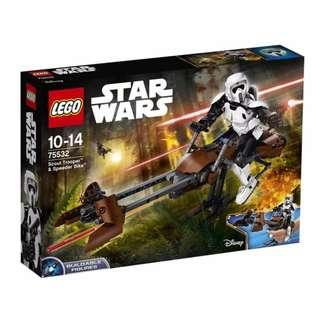 Leeogel Lego Star Wars 75533 Scout Trooper Buildable Figure & Speeder Bike - New In Sealed Box