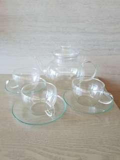 割價……手造玻璃茶壼及杯