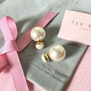 (NEW) Ted Baker Double Pearl Earrings