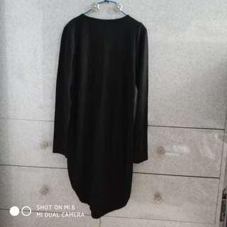 黑色前短後長裙