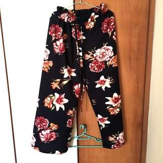 (BN) Floral Drawstring Pants