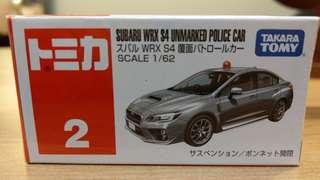 🚚 TM小汽車 Takaratomy (SUBARU WRX S4 UNMARKED POLICE CAR)