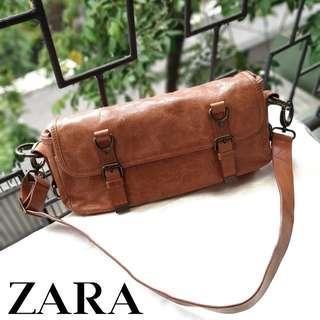 Zara Orange Bag / Tas Jingga Selempang Genuine Leather