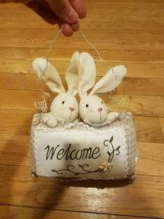 Home accessories embroidery plush dolls