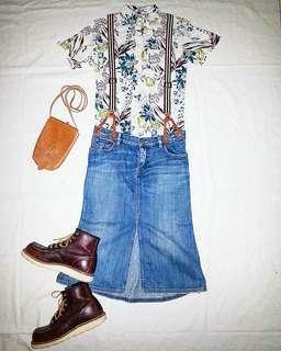 Polo Ralph Lauren Vintage Style Denim Skirt