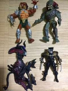 Authentic Vintage 1992 Predators VS Aliens