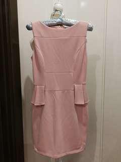 Pink Peplum Dress