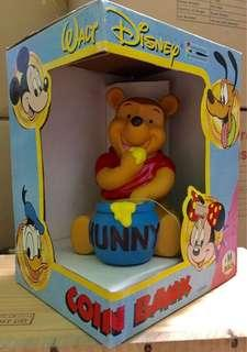 Brand New Authentic Disney Winnie The Pooh HandPainted Coin Bank