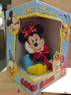 Brand New Authentic Disney Minnie HandPainted Coin Bank