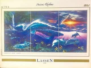 Brand New Authentic THE ART OF LASSEN - Ancient Rhythms Japan 🇯🇵 2000 Pieces Luminous Jigsaw Puzzle