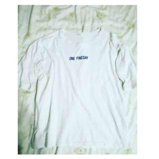 🚚 <知心>白色字母T恤