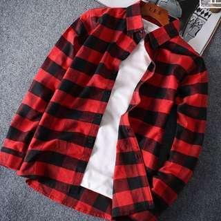🚚 黑紅格子襯衫
