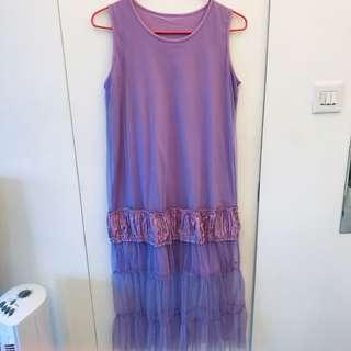 紫色背心裙