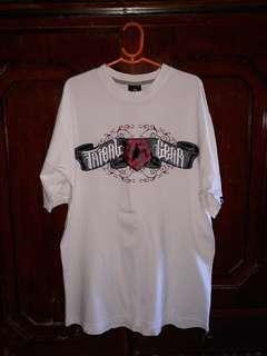 Tribal white neck round shirt