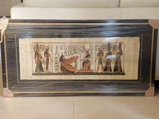 Exquisitely framed Egyptian Papyrus Painting