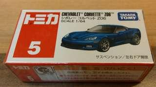 TOMICA No.5-6 Chevrolet Corvette Z06 藍色 (全新)