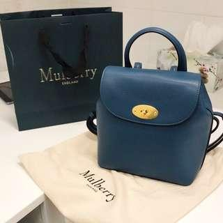 Genuine Mulberry Mini Bayswater Backpack in Deep Sea 99% NEW