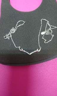 🚚 鹿角幸運純銀項鍊