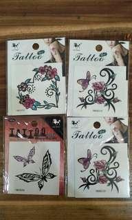 Tattoo sticker 4 lembar