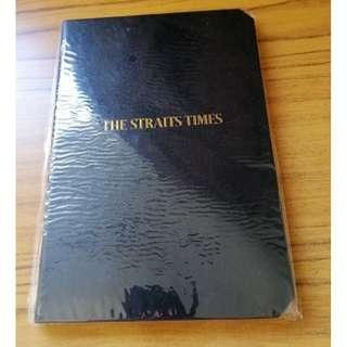 """Brand New Hardcover """"Straits Times"""" A5 size notebook (Comes with free 2019 Calendar)"""