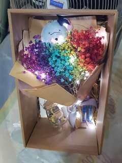 (PROMO) Graduation Dino Rainbow bouquet etc