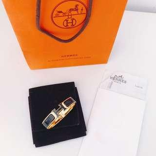 HOLD ! Hermes Clic Clac H PM Black + Gold bracelet
