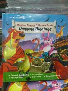 Buku anak membaca dongeng & bermain puzzle
