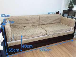 Sofa/Day bed (solid wood)