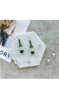 Soju bottles earrings