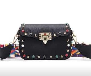 Fashion Color Strap Cross body Bag