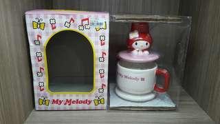 全新 sanrio mm 1998 melody 陶瓷杯 人形杯 日本版
