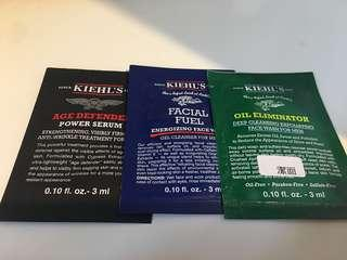 (包郵)Kiehl's samples x 3 pcs