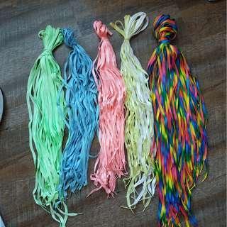 $3 each pair New instock luminous, rainbow shoelaces
