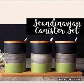 Brand New Scandinavian Handcrafted Canister Set