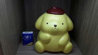 中古 sanrio pn pom purin 1998 人形膠垃圾桶 布甸狗 布丁狗 日本版