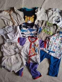 Assorted baby clothes 11 pieces/sets -  4 Carter's, 4 Fiffy, 1 next, 1 Hush Puppies, 1 OKBB