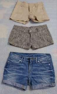 Repriced!!! 3 shorts for 100php