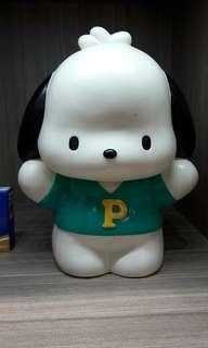 中古 sanrio pc狗 pochacco 1998 人形膠垃圾桶 日本版 未用過只是display 不合完美主義者