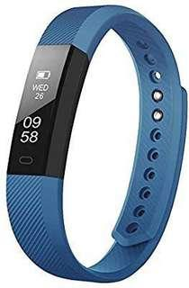 [E532] TOOBUR Slim Fitness Tracker, Waterproof Activity Tracker with Pedometer Calories and Sleep Monitor, Step Counter Wristband Watch for Women Men Kids (blue)