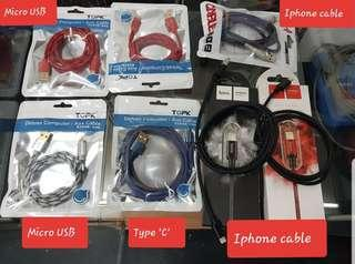 🚚 Fast charging cables Type C, Micro USB, Iphone