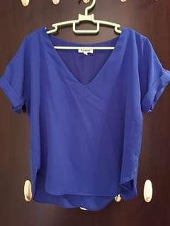 BN Southaven electric cobalt blue top