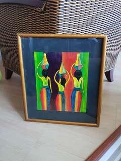 Modern Oil Painting with wooden frame