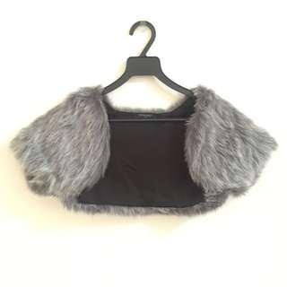 Synthetic Short Fur cardigan