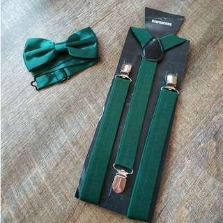 $9 both adult suspenders bowtie set