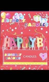 生日快樂 Happy birthday candles 蠟燭