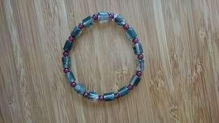 Crystal bracelet/綠幽靈石榴石水晶手鍊