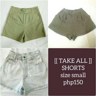 Small Shorts (Take All) for php150