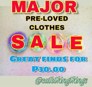 MAJOR CLEARANCE SALE ON TOPS AND VARIOUS APPAREL