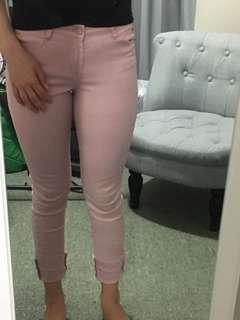 Size 8 blush denim jeans