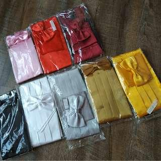 New instock adult men's cummerbund, pocket square and bowtie set both $15